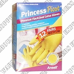 Princess Medium Rubber Gloves