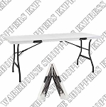 Elite Beige Fold-in-Half Table 72x30 Inch