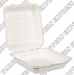 9x9x3 Compostable Clamshell Container