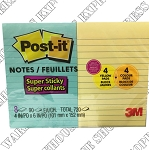 3M 4x6 Post-It Lined Notes