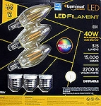 Luminous LED 4W B11 Filament Bulbs