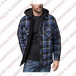 BC Clothing Men's Quilted Flannel Hoodie