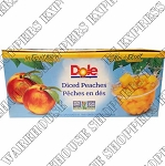 Dole Diced  Peaches in  Juice