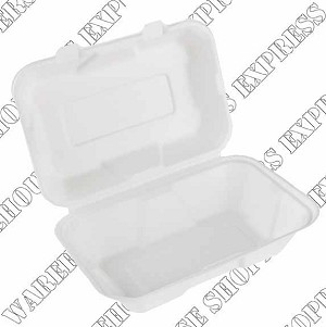 9x6x3 Compostable Clamshell Container
