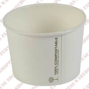 8oz Compostable Paper Soup Cup