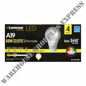 Luminus Dimmable 10 W A19 LED Bulb