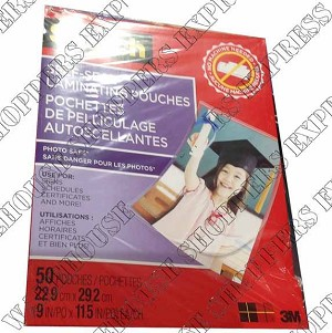 3M Scotch Self-Seal Laminating Pouches